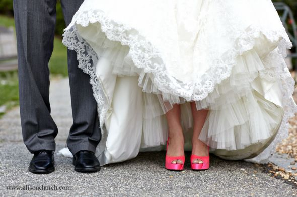 Pink Shoes With Ivory Gown???