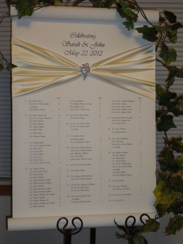 Belle Jardine Seating Chart An Alternative To Place Cards