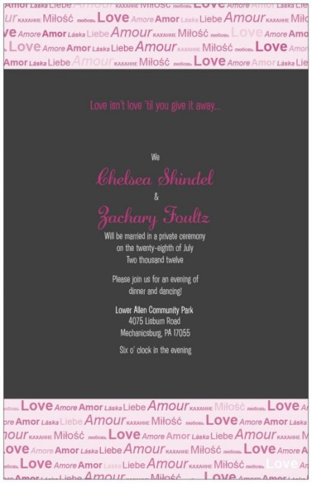 Reception Wedding Invitations On Home 100 Invites Under Only Love