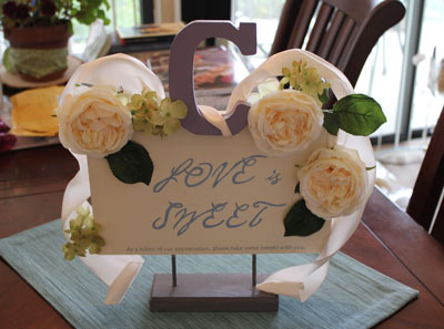 Cake Table Signage :  wedding austin decor diy 24 2