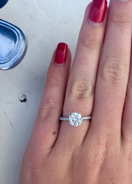 Real Engagement Rings Round Diamonds