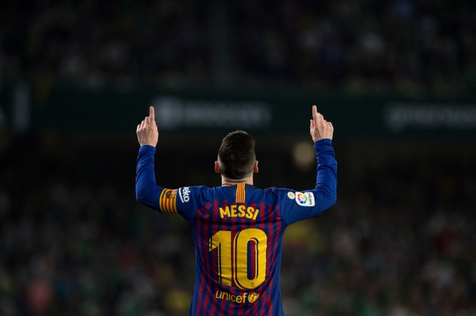 Messi plays for Barcelona and Argentina's national team