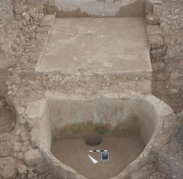 Die Weinpresse in Tell el-Burak
