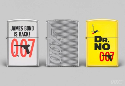 James Bond themed Zippo Lighter Collection