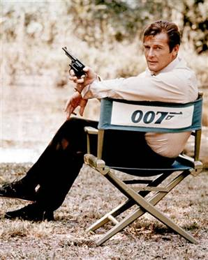 Roger Moore as James Bond