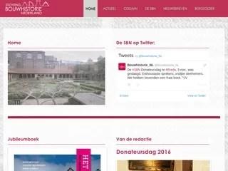 Drupal webdesign Stichting Bouwhistorie Nederland