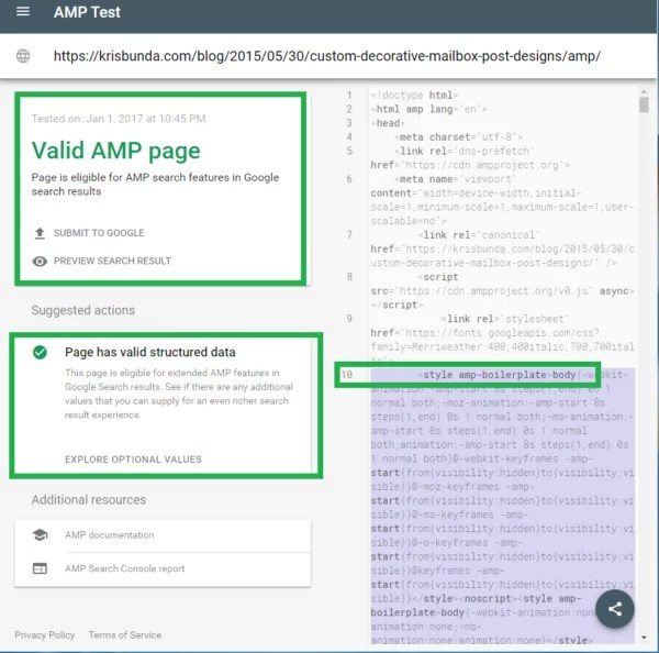 GOOGLE-SEARCH-CONSOLE-AMP-Page-now-with-Valid-Structured-Data