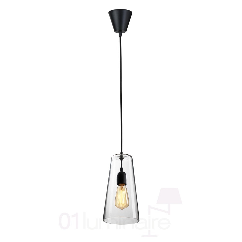 Suspension Miss D Verre Transparent Noir Market Set
