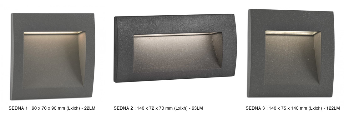 Encastrable Mural Dextrieur Sedna LED Intgre