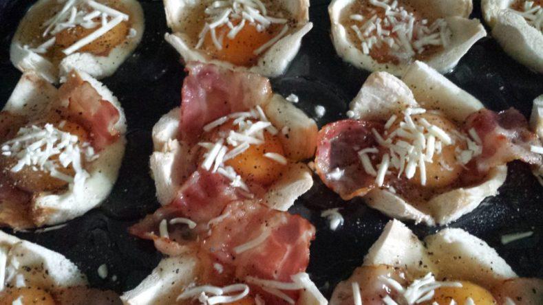 Vorbereitete Bacon Egg Muffins