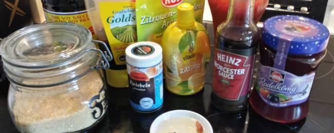 Zutaten Marmeladen Glasur