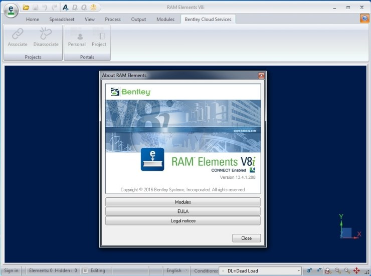 RAM Elements V8i SS4 13.04.01.208
