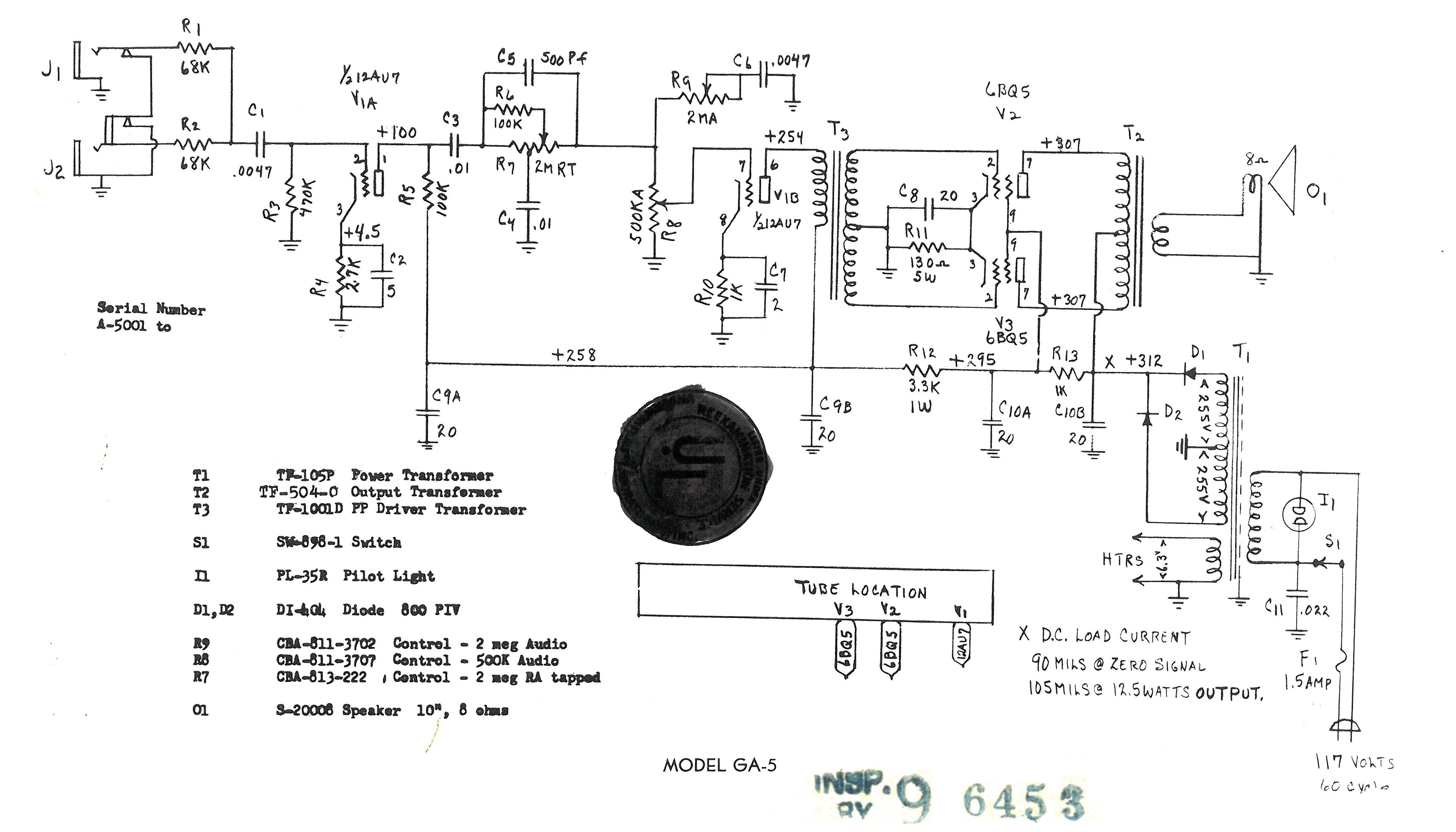 Guitar Amp Power Transformer Wiring Diagram