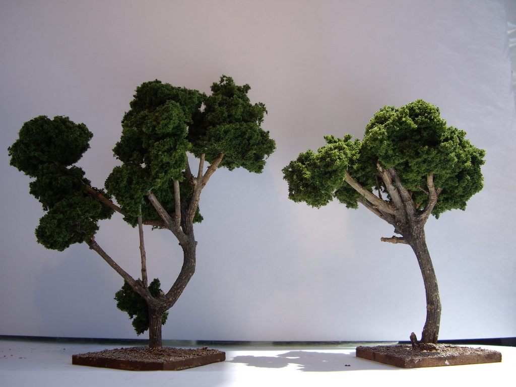 how to make scale model trees