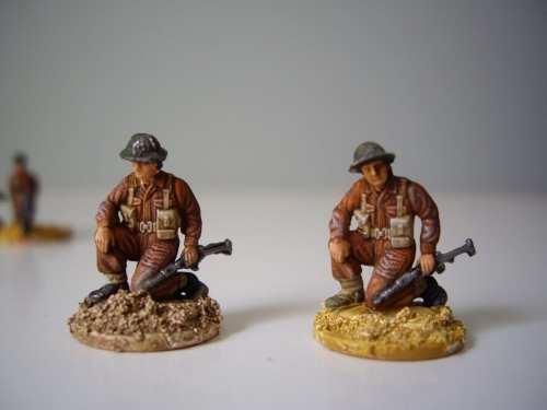 Italeri, British Commando, head changed.