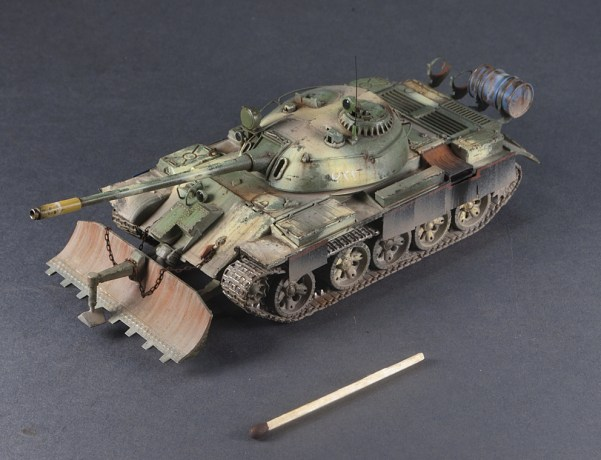 1/72 Trumpeter – 07284 – T-55 with BTU-55 (Iraq), Finished Model