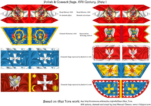 28mm – Polish Renaissance & Cossack Flags.