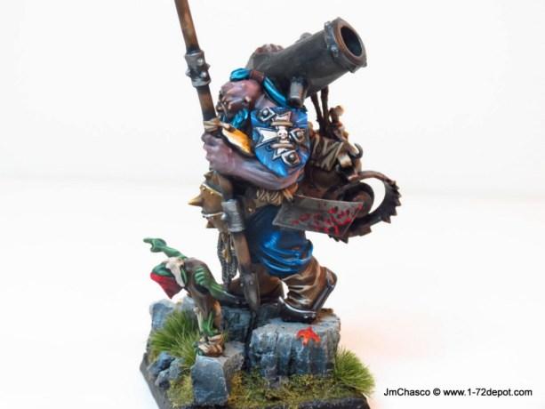 28mm – Games Workshop – Ogre Kingdoms Leadbelchers (Conversion KoW Ogre Army Standard Bearer)