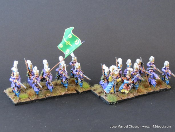 28mm The Assault Group – Warlord Games – Janissaries with Musket (1).