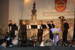 Musikalische Einlage: Quintett des Musikvereins. Foto: J. Lehmann
