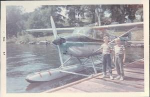 Seaplane at Calumet Island dock, circa 1967