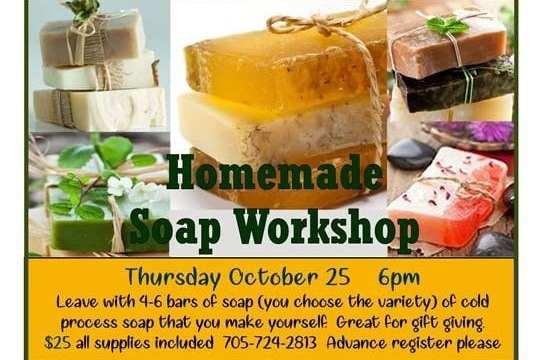 OCT 25: Soap Making Workshop