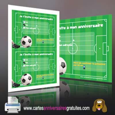 carte anniversaire foot gratuite a imprimer