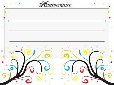 carte d invitation gratuite anniversaire