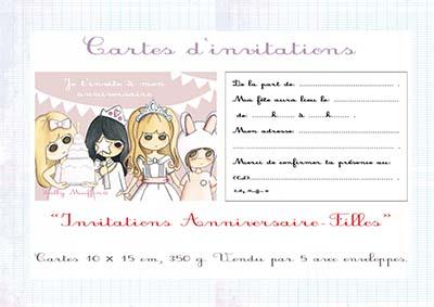 cartes d anniversaire invitation