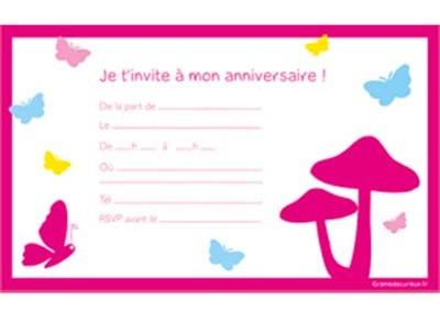 carte invitation d anniversaire