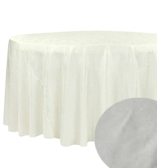 nappe taffetas ronde d180 cm gris clair
