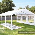 Tente Barnum de Réception 3×9 m PE Bâches Amovibles 200-240 g/m² BLANC / Jardin Tonnelle Pavillon Chapiteau