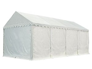 Hangar tente de stockage 4 x 8 m ignifuge d'élevage de 2,60m de hauteur blanc épaisses de 500g/m² PVC imperméables