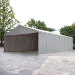 Hangar tente de stockage 5 x 10 m d'élevage de 2,60m de hauteur blanc épaisses de 500g/m² PVC imperméables