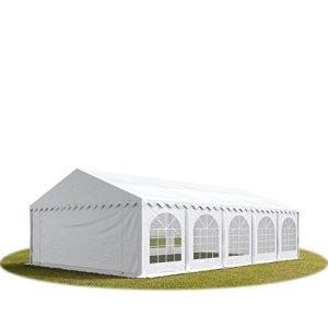 Tente de réception 5×10 m en blanc Chapiteaux mariages – PREMIUM – 500g/m² PVC – cadre del sol
