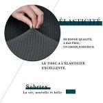 Subrtex Housse de Chaise de Salle à Manger Jacquard Extensible Colorant (2 Pièce, Gris Carreau)