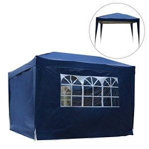 Tonnelle barnum tente de réception pliante 3 x 3 m bleu + sac de transport neuf 67B