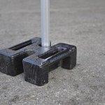 INTEROUGE Poids de lestage 30KG pour tente pliante Pro barnum tonnelle fixation