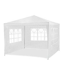 MAXX Tente de réception 3 x 4 m, 12 m² – Blanc – à utiliser comme pavillon, pergola, tente de jardin, chapiteau ou tonnelle.