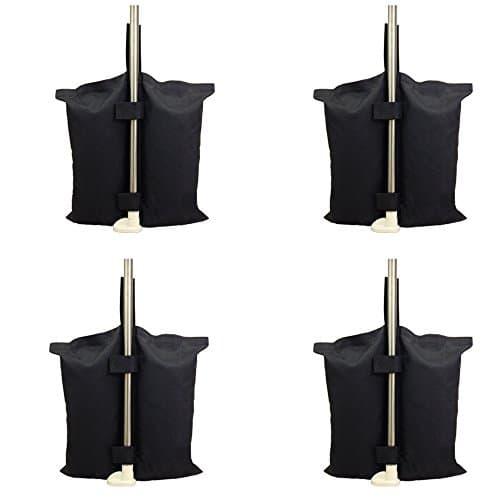 Qualité industrielle Heavy Duty double couture Poids, Sac, jambes, poids pour Pop Up Auvent Tente Pieds lestés Sac Sac de sable 4 Pcs-pack , Noir. 4 PCS