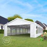 TOOLPORT Tente de réception 6×12 m pavillon Blanc bâche PE épaisse de 180 g/m² imperméable Tente de Jardin