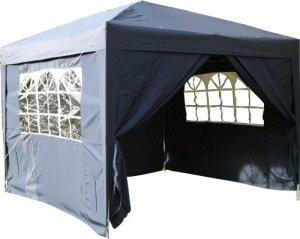 Airwave Gazebo Tente Pop Up Tonnelle imperméable avec 2windbars et 4pieds Poids Sacs bleu