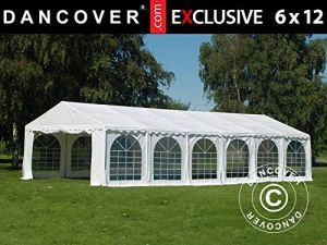 Dancover Tente de réception en PVC Blanc 6 x 12 m