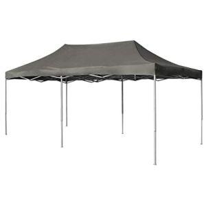 Festnight- Tente de Reception Tente de Jardin chapiteau Jardin en métal tonnelle Pliante 3 x 6 m Anthracite