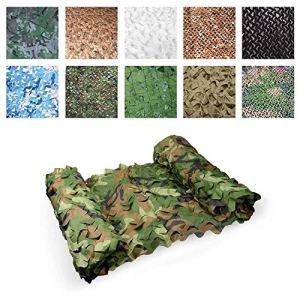 Filet de camouflage camouflage extérieur, Camouflage vert écran solaire auvent ombre abri de voiture décoration de jardin protection de la vie privée couverture végétale toile de soleil filet balcon t