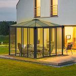 Palram Ledro Tonnelle de Jardin fermée– Structure en Aluminium incluant Les Murs – Abri de terrasse – Garantie 10 Ans