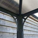 Palram Tonnelle de Jardin Monaco – Structure en Aluminium au Design Hexagonal – Abri de Terrasse pour Une Utilisation Toute L'année – Garantie 10 Ans