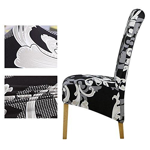 PPOOLLKKMM Grande Taille Longue Retour Chaise Couverture Roi Haut Dos Spandex Housse de Chaise Couvre Hôtel Banquet Housse de Chaise Housses, 125897Xl, Taille XL