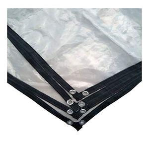Tangzhi Film imperméable pour extérieur, résistant à l'eau, résistant à la Chaleur, en polyéthylène, 23 Tailles, Clear, 3X3M