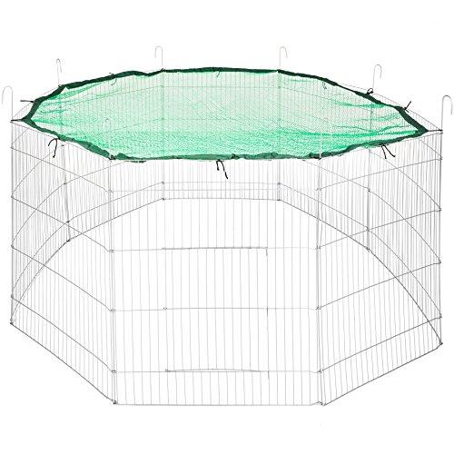 tectake Enclos extérieur avec Filet de Protection pour Petits Animaux | Diamètre env. 204 cm | Vert